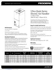 fedders afpb36a1 manuals fedders afpb36a1 specifications 6 pages ultra quiet series electric air handler