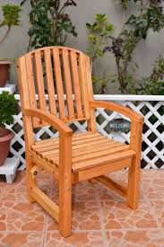 outdoor wooden chairs with arms. Luna Arch Back Wooden Chair By Forever Redwood Outdoor Chairs With Arms