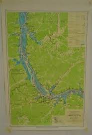 Details About Tennessee River Chart 201 Pickwick Lake 1974