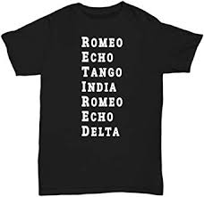 The nato phonetic alphabet, also sometimes referred to as alpha bravo charlie is actually officially called the international radiotelephony spelling alphabet. Amazon Com Retired T Shirt Police Army Usaf Retirement Military Phonetic Alphabet Gift Tee Clothing
