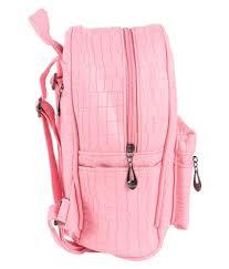 u nik trendsetters light pink faux leather backpack