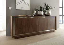 ... Contemporary Sideboard Modern Office Credenza Amber Oak Cognac 4 Door Modern  Sideboard: glamorous ...
