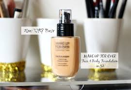 review hg make up for ever face body foundation in 32