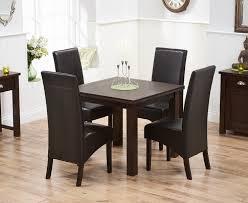 udine solid dark oak 90cm flip top extending dining set with 4 dakota brown chairs