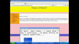 Create School Website 5: Adding Css Code to Html Page - YouTube
