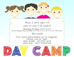 Daycare Flyer Templates Home Samples On Gallery Child Care Brochure