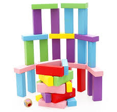 How To Play Tumbling Tower Wooden Block Game Amazon Lewo Wooden Stacking Board Games Building Blocks for 34