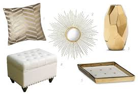 midtown by amy chandra white gold glam decor accessories