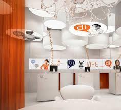 cool office interior design. grey and beige theme cool office interior with modern two levels wall shelving complete the black cabinet elegant brown wood desk on design