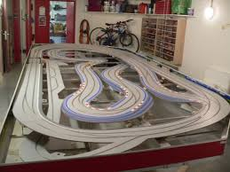 routed digital slot car track photos and descriptions