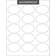 Waterproof Sheet Labels Small Oval Blank Labels Soap