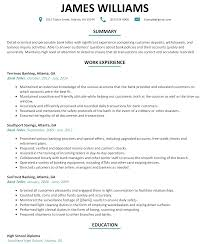 Bank Teller Resume Example Examples Of Resumes