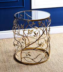 venetian round glass end table