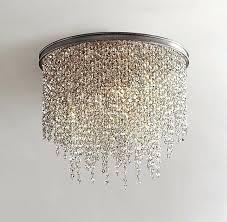 flush mount chandelier lighting example of flush mount think i prefer hanging crystal smoke more flush