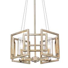 Marco Light Fixtures Golden Lighting Marco 4 Light Gold Pendant Convertible With Clear Glass