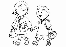 Bambini Che Giocano A Scuola Da Colorare Immagini Di Bambini