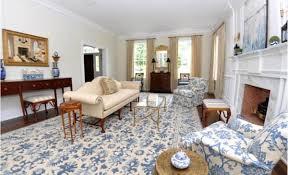 blue and white rug fl rug needlepoint rug