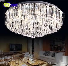 round flush mount ceiling light new fumat hot s round flushmount k9 crystal chandelier modern