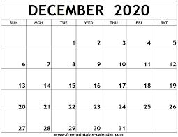 December 2020 Printable Calendar Free Printable Calendar Com