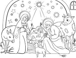 Small Picture Printable Christmas Coloring Pages Nativity Scene Coloring