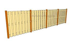 Depending on the type of wood, prices range from $12 to $27 per linear foot for both labor and materials. Wood Fence Plans Myoutdoorplans Free Woodworking Plans And Projects Diy Shed Wooden Playhouse Pergola Bbq
