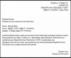 Contoh surat izin guru tidak masuk mengajar. Contoh Surat Izin Tidak Masuk Sekolah Karena Sakit Lewat Whatsapp Nusagates