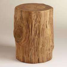Coffee Table Tree Teak Tree Stump Table World Market