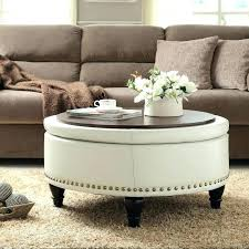 cocktail ottoman with storage round ottoman coffee table round coffee table ottoman storage bench leather cocktail