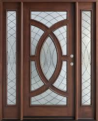 Decorating wood front entry doors with sidelights images : Entry Door in-Stock - Single with 2 Sidelites - Solid Wood with ...