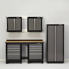 door packages shelving organizer workbench garage system racks parts opener and craftsman storage tool black stool