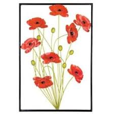 image is loading metal wall art decor picture framed red poppies  on bunch of poppies metal wall art with metal wall art decor picture framed red poppies bunch poppy flower