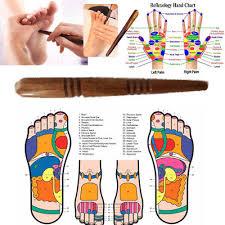 Thai Foot Reflexology Chart Wood Stick Wooden Tools Thai Massage Spa Foot Reflexology Therapy Body Health Ebay