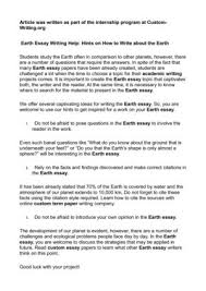 save earth essay the future of our planet essay