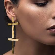 Cross earrings dangle, <b>large statement</b> earrings <b>gold</b>, <b>big</b> earrings ...