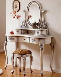 Dressing Mirror Cabinet Bedroom Shabby Chic White Dressing Table With Drawer And Cabinet
