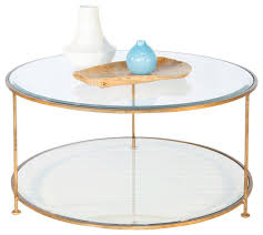 worlds away gold leaf iron round coffee table with beveled glass top glass round coffee tables