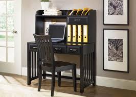 image of black desk with hutch secretary