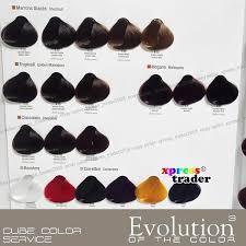Alfaparf Evolution Hair Color Chart