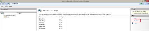 Unable to set default document in IIS 8 - Stack Overflow