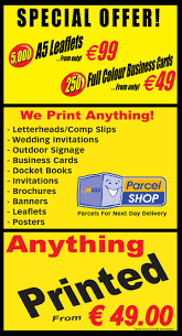com postcards standard posters raffle tickets roll up displays show programes sponsor cards thank you cards vinyl stickers wedding invitations