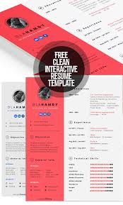 Interactive Resume Template Enchanting Fresh Free Resume Templates Freebies Graphic Design Junction