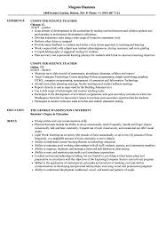 It Teacher Resume Computer Science Teacher Resume Samples Velvet Jobs