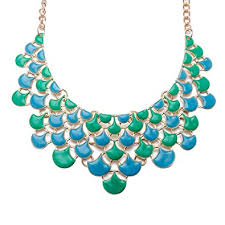 Yellow Chimes <b>Retro Bohemia Leaves</b> Blue Green Necklace for ...