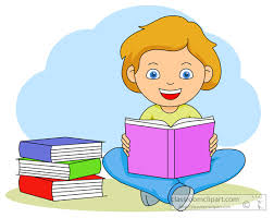 child reading a book clip art clipart collection