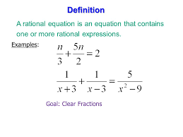 definition a rational equation is an equation that contains