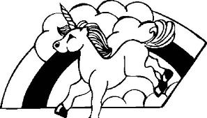 Unicorno Su Arcobaleno Disegno Da Colorare Per Le Bambine Disegni