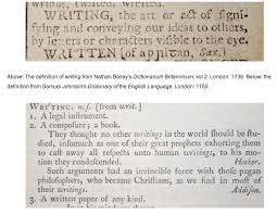 the government s definition of writing is seriously out of date  believers