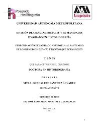 universidad autónoma metropolitana tesis - Inicio