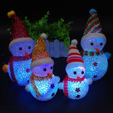 Led Lights Christmas Snowmen Colorful Crystal Grain Christmas Snowman Night Lamp Led Luminous Toy Doll Christmas Gifts For Children