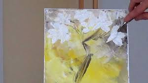 tanja bell how to paint white blossom tutorial palette knife painting technique